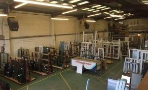 Frames and Glass Ready for Installation